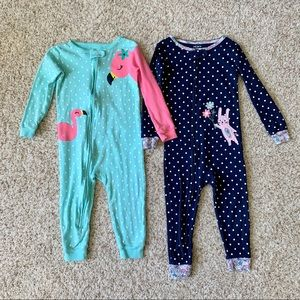 24m Footless Zip-Up Pajamas Set